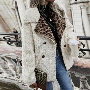 💥🎉HP🎉💥Super Sharp  Beige Lapel Leopard Coat